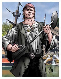 Captain Adam: Space Pirate Card Art