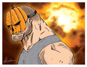 Halloween Hank Card Art