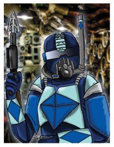 Navy Blue Card Art