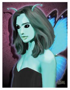Social Butterfly Card Art